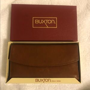 Buxton Brown Leather BEEPING Wallet